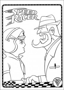 coloring page Speed racer (6)