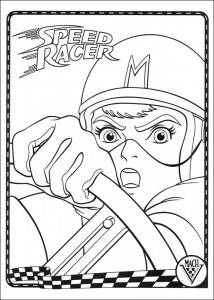 coloring page Speed racer (7)