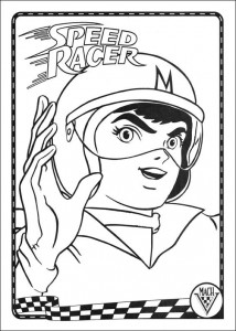 coloring page Speed ​​racer