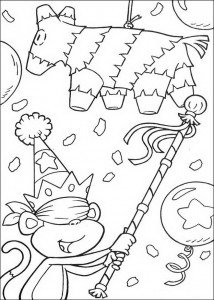 coloring page Playing games