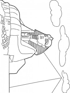 coloring page Sphinx, Egypt