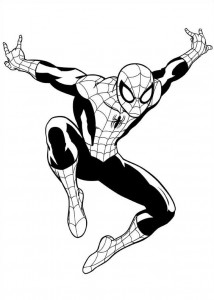 coloring page spiderman 2