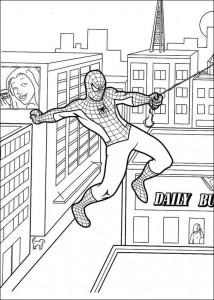 kleurplaat Spiderman (2)