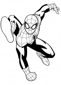 coloring page spiderman 3
