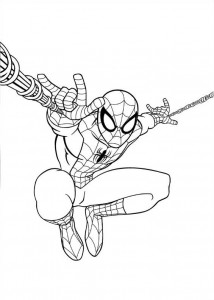 målarbok spiderman 4