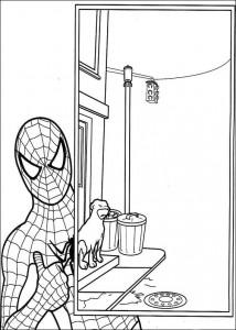 kleurplaat Spiderman (4)