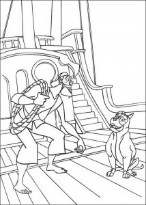 coloring page Spike the dog