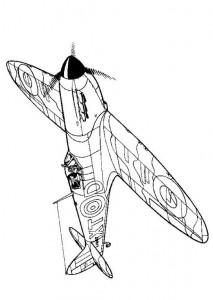 kleurplaat Spitfire 1940