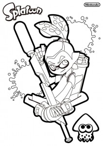 coloring page Splatoon (1)