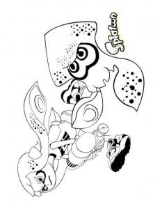 kleurplaat Splatoon (5)