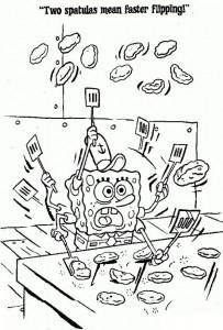 раскраска Губка Боб (21)