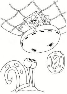 раскраска Губка Боб (4)