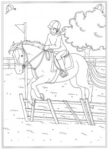 coloring page Practicing jumping