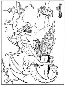 coloring page Fairytale tree (3)