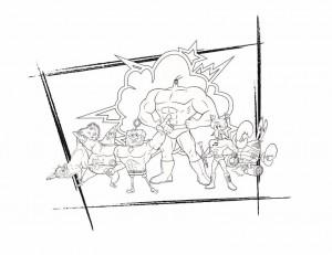 målarbok spurheroes