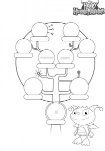 pedigree coloring page
