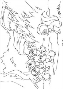coloring page Stampertje and his friends