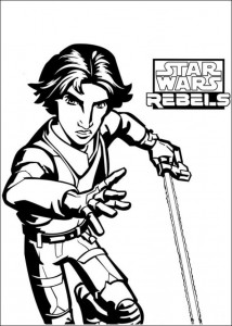 Disegno da colorare Star Wars Rebels (1)