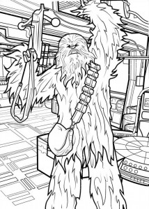 coloring page Star Wars The force awakens (1)