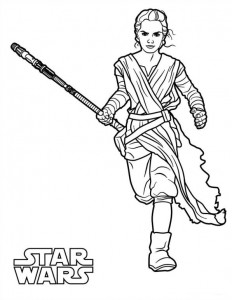 coloring page Star Wars The force awakens (10)