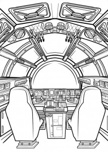 målarbok Star Wars The Force vaknar (2)