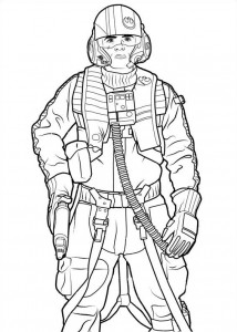 coloring page Star Wars The force awakens (5)