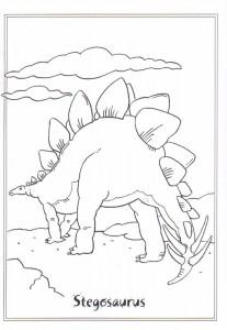 coloring page stegosaurus