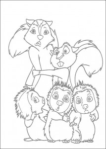 coloring page Stella and Hammy