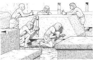 målarbok Stenar för pyramid