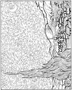 kleurplaat Sterren 1889