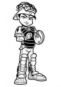 coloring page Tough catcher
