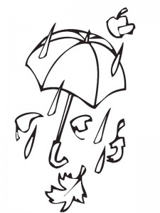 coloring page Storm and rain