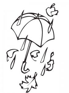kleurplaat Storm en regen