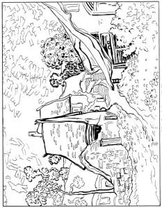 pagina da colorare Street in Auvers 1890