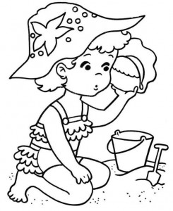 coloring page Strand (3)