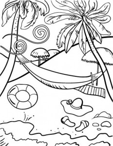 coloring page Strand (7)