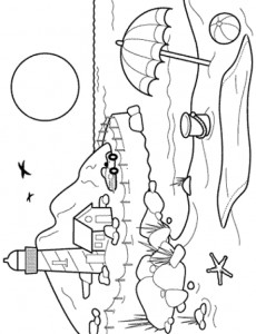 coloring page Strand (8)