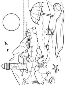 pagina da colorare Strand (8)