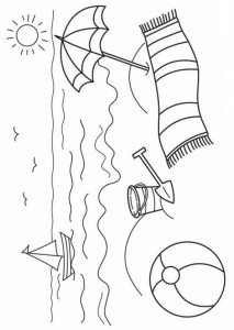 coloring page Strand (9)
