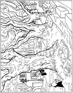 coloring page Street makers 1889