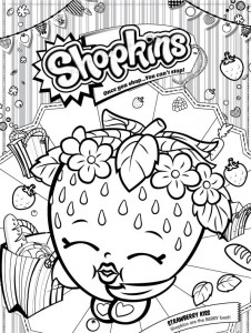 strawberry kiss coloring page