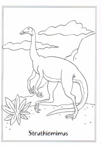 coloring page Struthiomimis