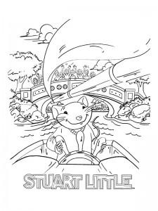 kleurplaat Stuart Little (11)