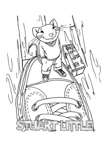 coloring page Stuart Little