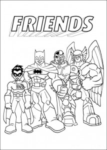раскраска Superfriends (1)