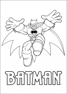 kleurplaat Superfriends - Batman