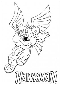 kleurplaat Superfriends - Hawkman