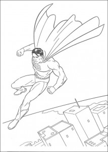раскраска Супермен (10)