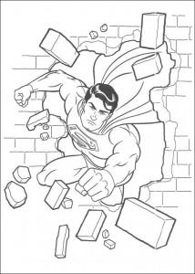 раскраска Супермен (11)
