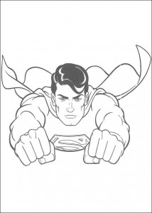 раскраска Супермен (13)